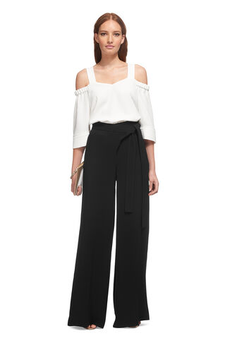 Extreme Wide Leg Trouser, in Black on Whistles