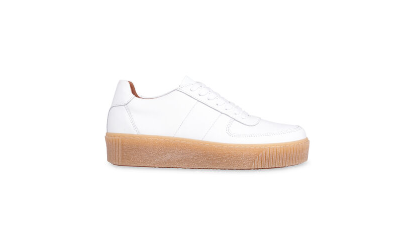 Abbey Deep Sole Trainer, in White on Whistles