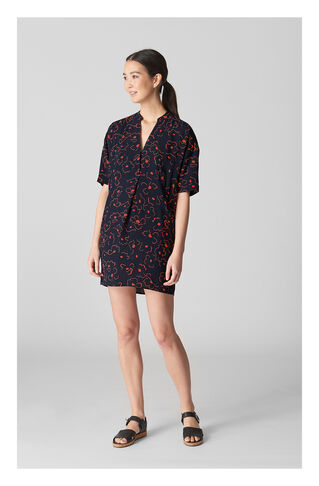 Luna Magnolia Printed Dress, in Navy/Multi on Whistles