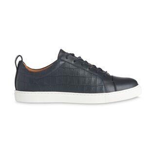 Kenley Croc Print Trainer, in Navy on Whistles
