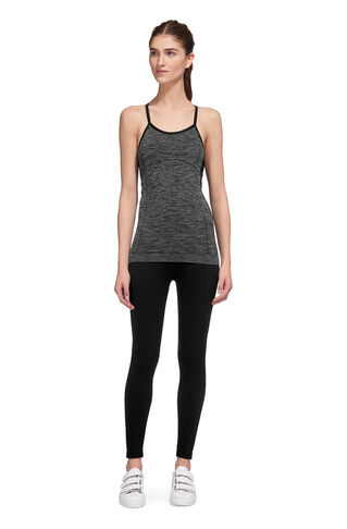 Workout Longline Top, in Grey Marl on Whistles