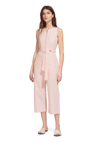 Alex Tie Jumpsuit, in Pale Pink on Whistles