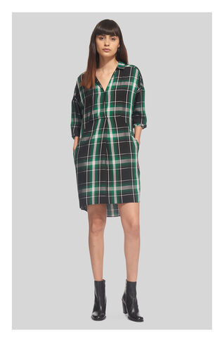Lola Check Dress, in Green/Multi on Whistles