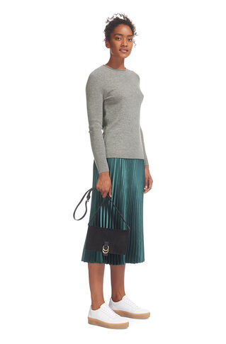 Saddle Shoulder Cashmere Knit, in Grey Marl on Whistles