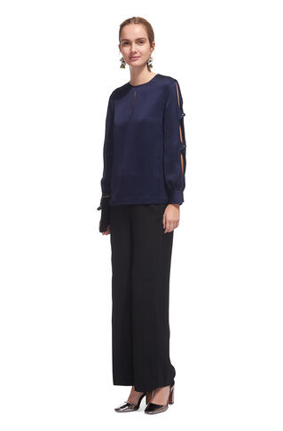 Robyn Open Arm Top, in Navy on Whistles