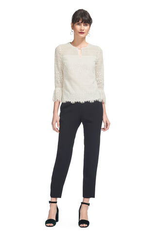 Marylou Lace Top, in Ivory on Whistles