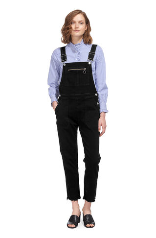 Denim Dungaree, in Black on Whistles