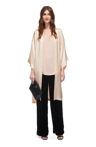 Silk Kimono, in Neutral on Whistles