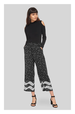 Mix And Match Spot Trouser, in Black and White on Whistles