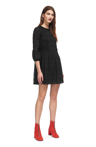 Sydney Lace Mix Dress, in Black on Whistles
