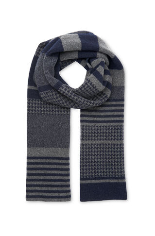 Green Thomas Wool Scarf, in Navy on Whistles