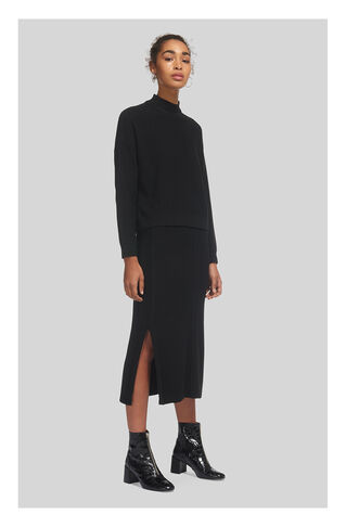 Textured Knitted Skirt, in Black on Whistles