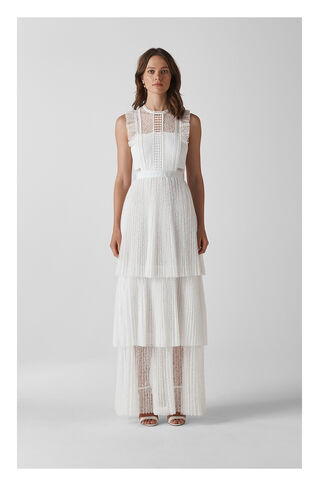 Theodora Wedding Dress, in Ivory on Whistles