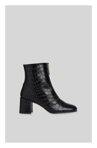 Rowan Croc Zip Front Boot, in Black on Whistles