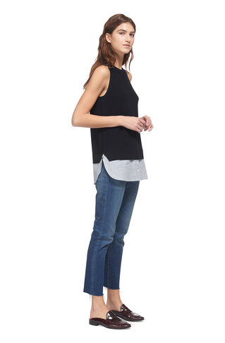 Stripe Hem Knitted Vest, in Navy on Whistles