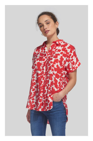 Ellen Floral Shirt, in Red/Multi on Whistles