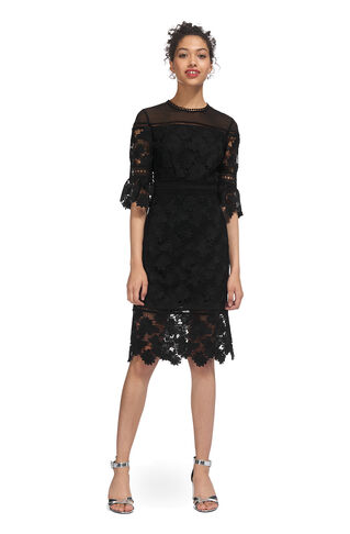 Amanda Lace Dress, in Black on Whistles