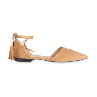 Arden Tassel Flat Point Shoe, in Tan on Whistles