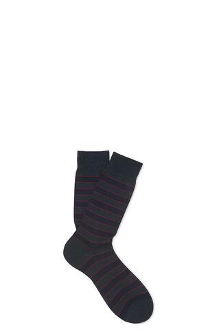Striped Merino Socks, in Blue/Multi on Whistles