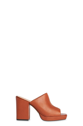 Florio Platform Mule, in Tan on Whistles