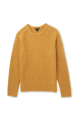 Textured Crew Neck Sweater, in Yellow on Whistles