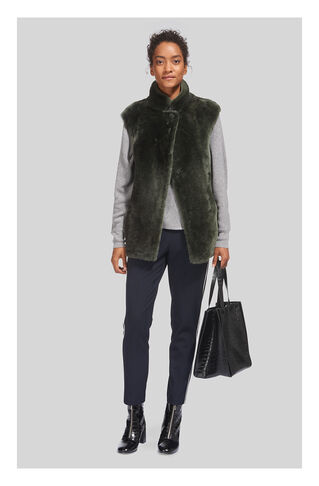 Meri Sheepskin Gilet, in Green on Whistles