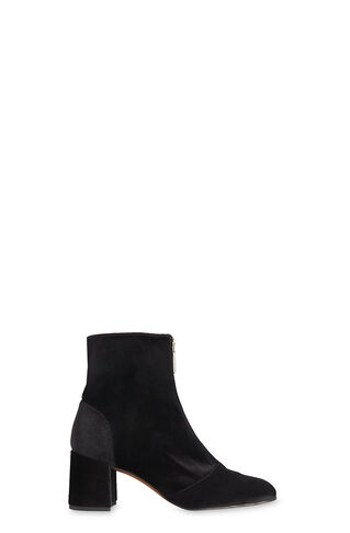 Rowan Velvet Zip Front Boot, in Black on Whistles