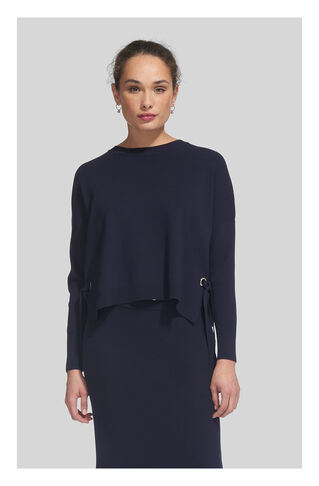 Tie Side Sweater, in Navy on Whistles