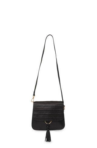 Rosemead Woven Metal Ring Bag, in Black on Whistles
