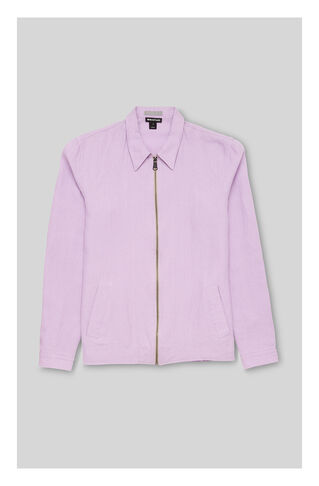 Linen Zip Up Overshirt, in Lilac on Whistles