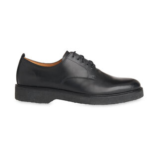Clean Leather Derby, in Black on Whistles