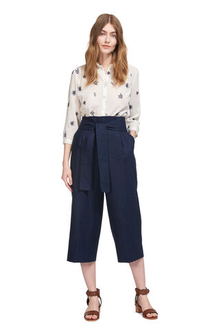 Tilda Paperbag Waist Trouser, in Navy on Whistles