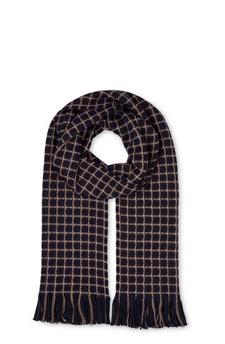 Grid Check Scarf, in Blue/Multi on Whistles