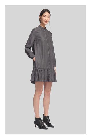 Dropped Hem Shirt Dress, in Grey on Whistles