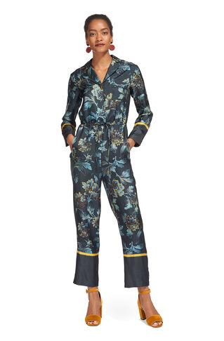 Lyle Silk Pyjama Jumpsuit, in Multicolour on Whistles
