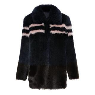 Binx Sheepskin Coat, in Multicolour on Whistles