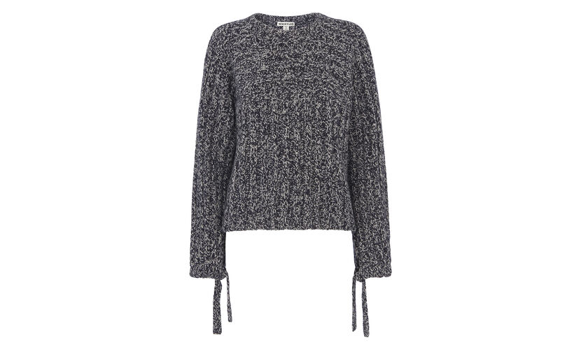 Tie Sleeve Knit, in Multicolour on Whistles