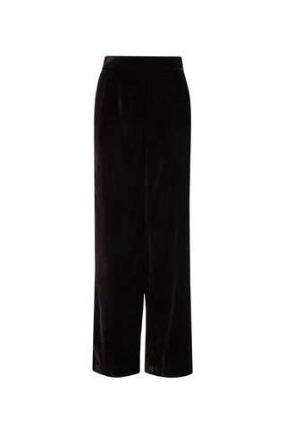 Eden Wide Velvet Trousers, in Burgundy on Whistles