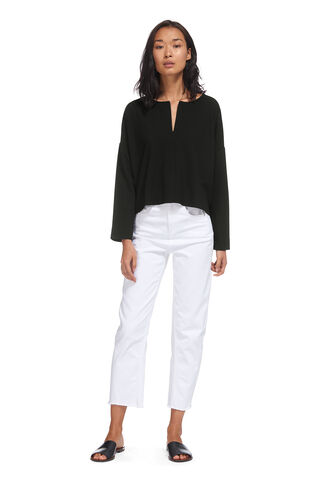 Zip Front Relaxed Sweatshirt, in Black on Whistles