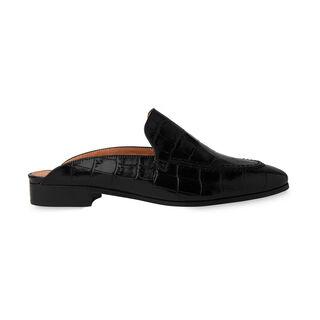 Lister Open Back Loafer, in Black on Whistles