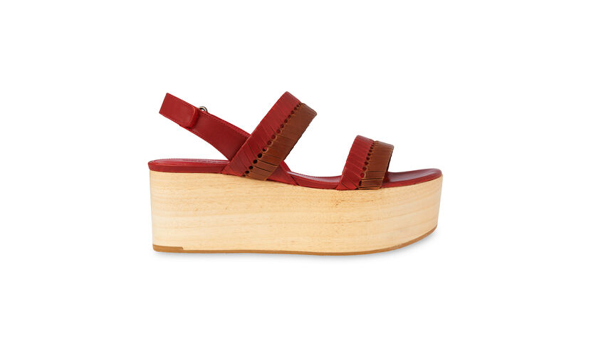 Eden Woven Wood Wedge, in Rust on Whistles