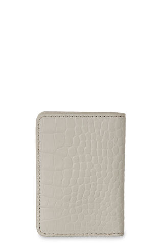 Matte Croc Card Holder, in Grey on Whistles