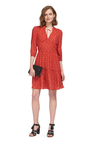 Maggie Fleur de Lis Dress, in Cinnamon/Multi on Whistles