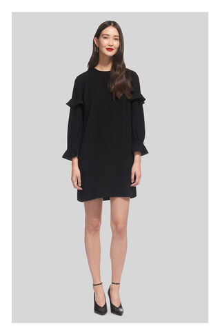 Elizabeth Frill Sleeve Dress, in Black on Whistles