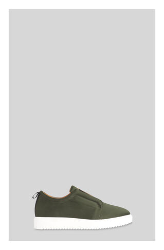 Vale Satin Flatform Trainer, in Khaki on Whistles