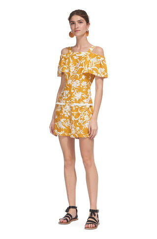Cornfield Print Playsuit, in Yellow/Multi on Whistles