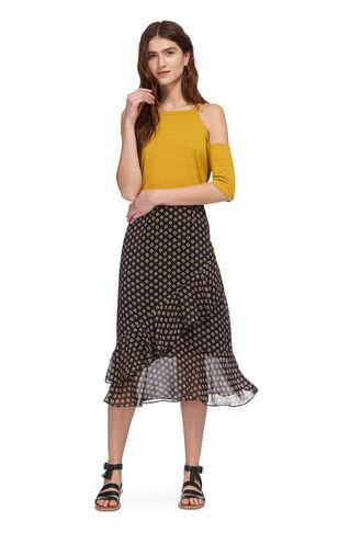 Tiered Nisha Print Skirt, in Black/Multi on Whistles