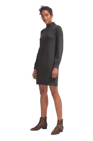 Juliet Funnel Neck Knit Dress, in Dark Grey on Whistles