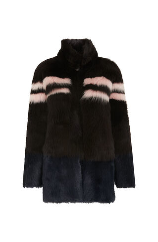 Binx Sheepskin Coat, in Brown on Whistles