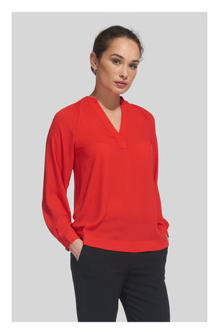 Catalina V-Neck Top, in Red on Whistles